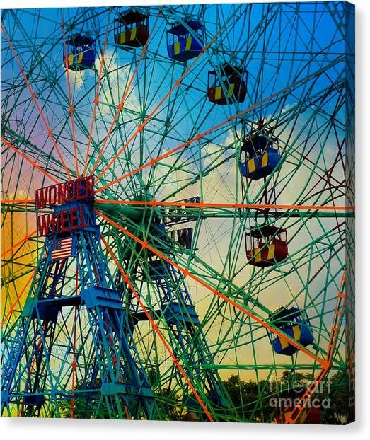 Wonder Wheel Canvas Print