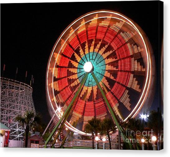 Wonder Wheel - Slow Shutter Canvas Print