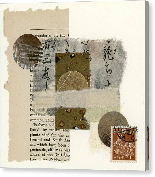 Torn Paper Collage Canvas Print - Wondered At by Carol Leigh