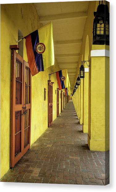 Colombian Canvas Print - Wonderful Architecture In The San Diego by Jerry Ginsberg