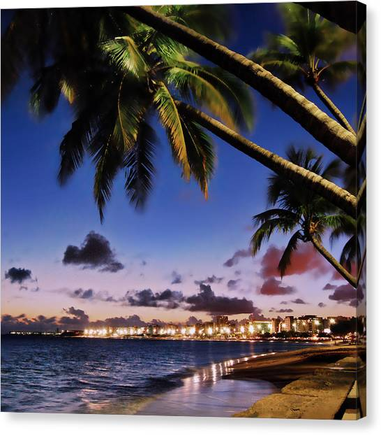 Trip Canvas Print - Wonderful Brazilian Beach At Maceio City by Carlos Alkmin