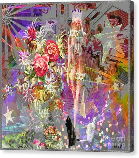 Canvas Print featuring the digital art Wonderland by Eleni Mac Synodinos