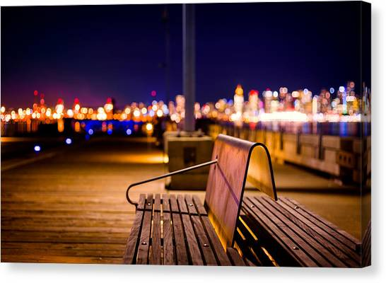 Vancouver Skyline Canvas Print - Won't You Join Me? by Alexis Birkill