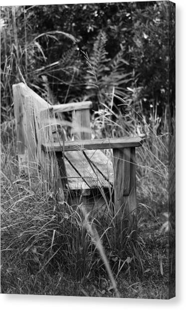 Wood Bench Canvas Print