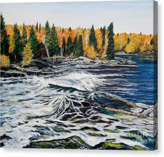 Wood Falls 2 Canvas Print