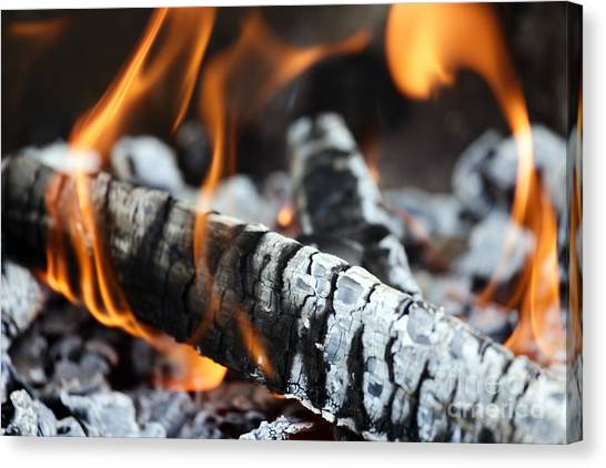 Wood Fire Canvas Print by Rostislav Bychkov
