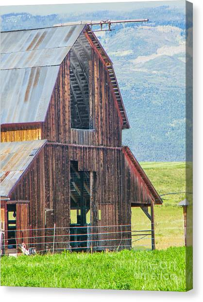 Wood Iron And Hayloft Canvas Print