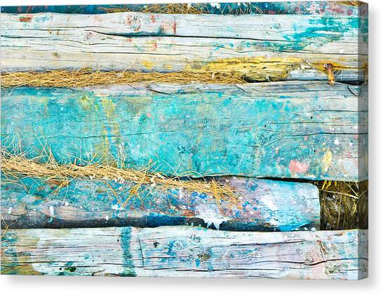 Deforestation Canvas Print - Wood Logs by Tom Gowanlock