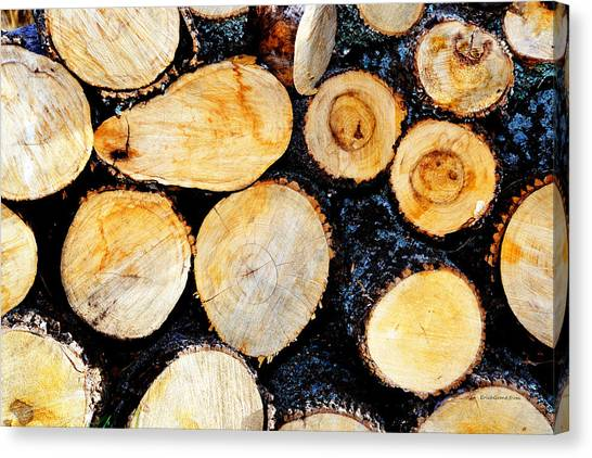 Wood Pile Canvas Print