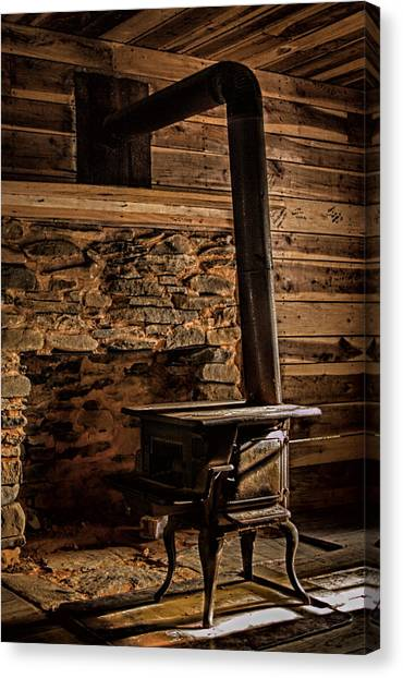 Wood Stove Canvas Print by Dave Bosse