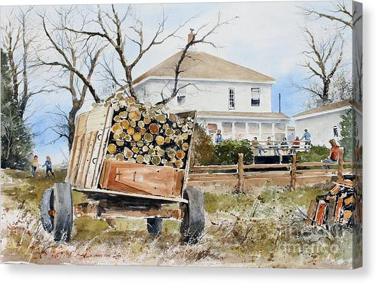 Wood Wagon Canvas Print