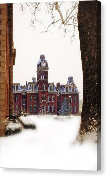 Woodburn Blowing Snow Canvas Print