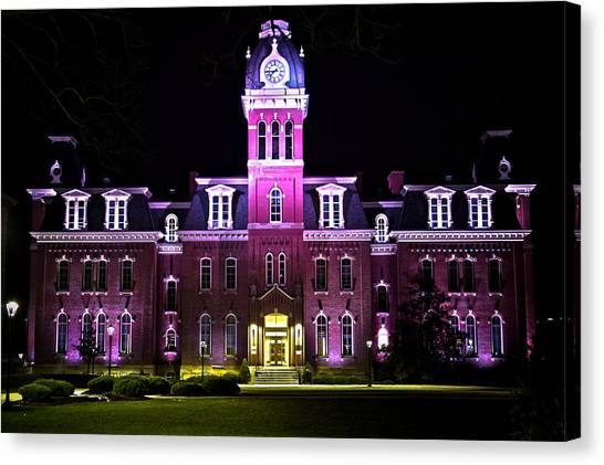 West Virginia University Wvu Canvas Print - Woodburn by Daniel Houghton