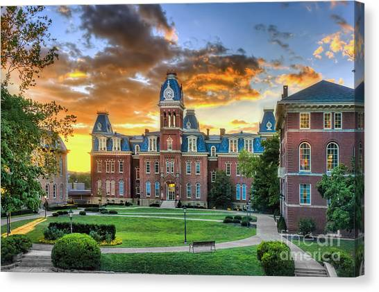 Woodburn Hall Evening Sunset Canvas Print