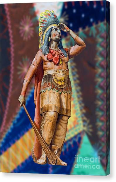 Wooden American Indian Canvas Print