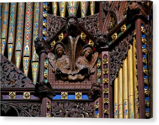 Wooden Angels Ely Cathedral Canvas Print