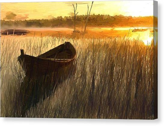 Wooden Boat Finland Canvas Print