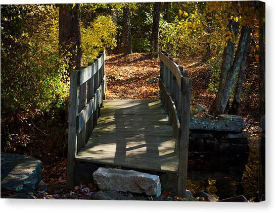 Wooden Bridge - Ledyard Sawmill Canvas Print