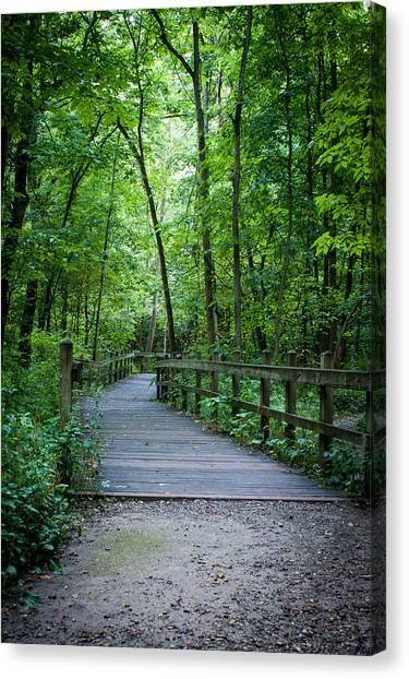 Wooden Bridge Canvas Print
