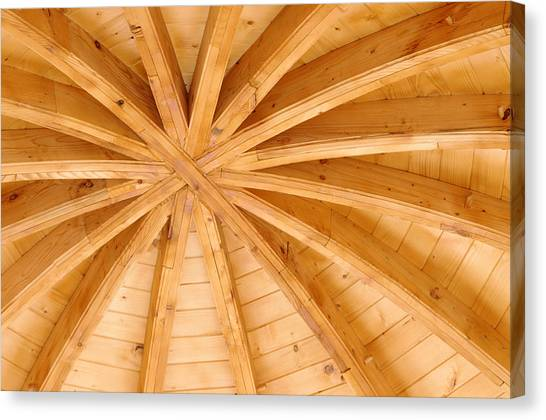 Wooden Ceiling  Canvas Print by Ioan Panaite