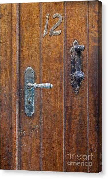 Canvas Print featuring the photograph Wooden Door In Old San Juan by Bryan Mullennix