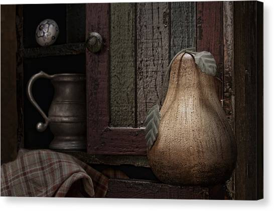 Drawers Canvas Print - Wooden Pear Still Life by Tom Mc Nemar
