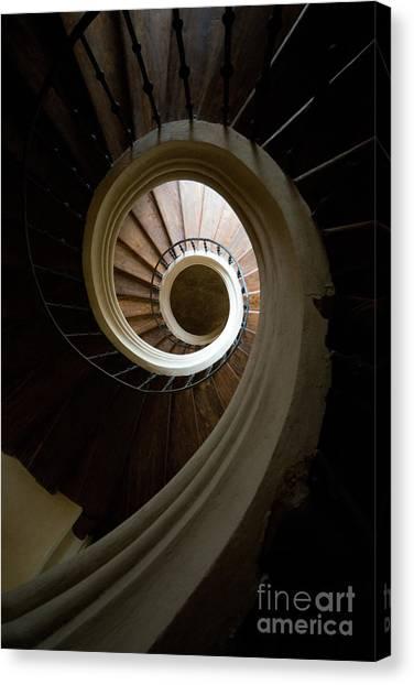 Wooden Spiral Canvas Print