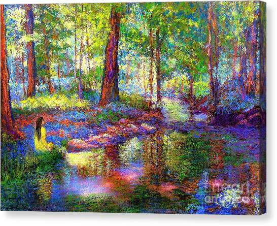 California Landscape Art Canvas Print - Woodland Rapture by Jane Small
