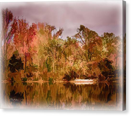 Woodland Reflections Canvas Print by Barry Jones