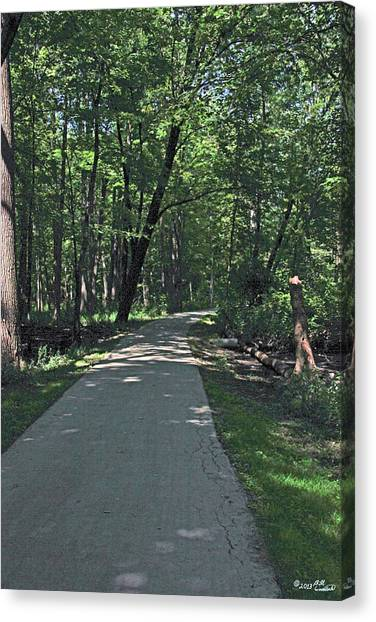 Woodland Road Canvas Print