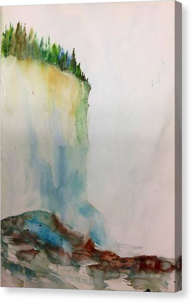 Woodland Trees On A Cliff Edge Canvas Print