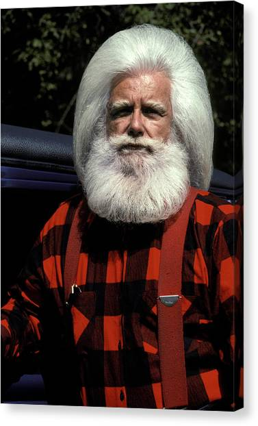 Woodsmen Canvas Print - Woodsman With White Hair And Beard by Vintage Images