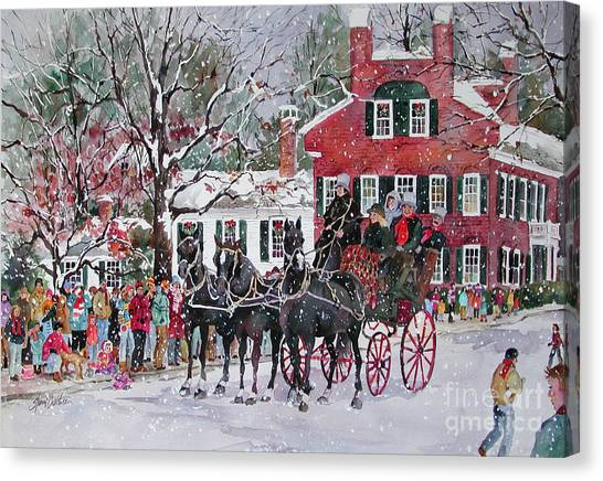 Woodstock Wassail Parade Canvas Print by Sherri Crabtree