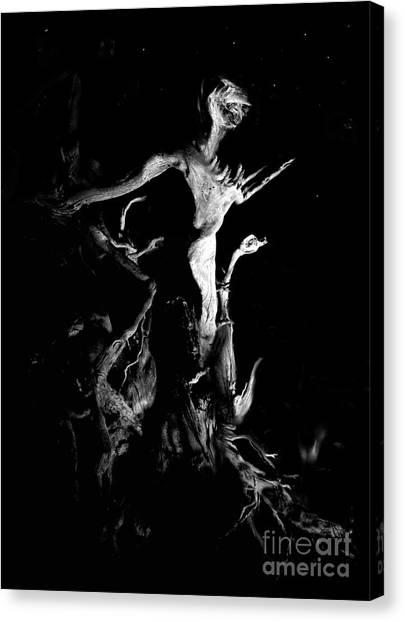 Woody Alien Canvas Print by Petros Yiannakas