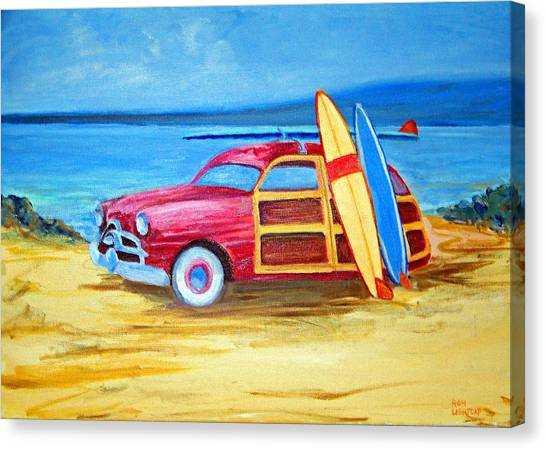 Woody On The Beach Canvas Print