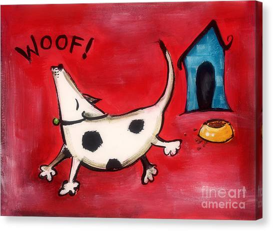 Woof Canvas Print by Diane Smith