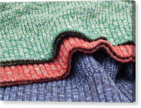 Clothing Store Canvas Print - Wool Colors by Tom Gowanlock