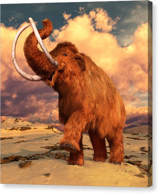 Tundras Canvas Print - Woolly Mammoth by Gary Hanna