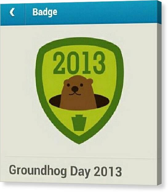 Groundhogs Canvas Print - Woot! #groundhog by Pavle Pajic