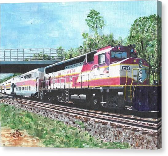 Worcester Bound T Train Canvas Print