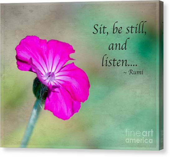Words From Rumi Canvas Print