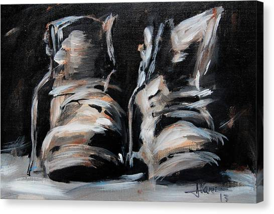 Work Boots Canvas Print