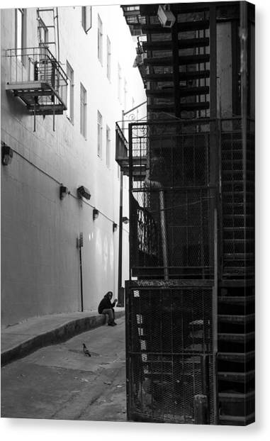 Immigration Canvas Print - Worker On Break by Jim Hughes