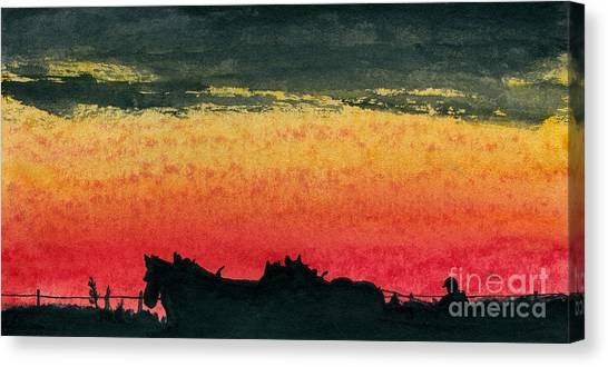 Workin' Together Canvas Print by R Kyllo