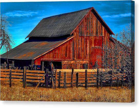 Working Barn Of Yuba County Canvas Print