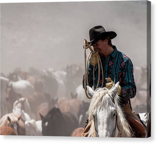 Working Cowboy Canvas Print