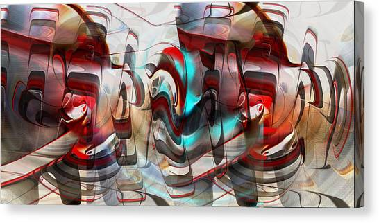 Canvas Print featuring the digital art Working Machine In Color by rd Erickson