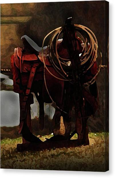 Working Man's Saddle Canvas Print