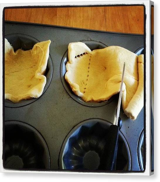 Bakeries Canvas Print - Working On Breakfast Cups Again by Lisa Marchbanks