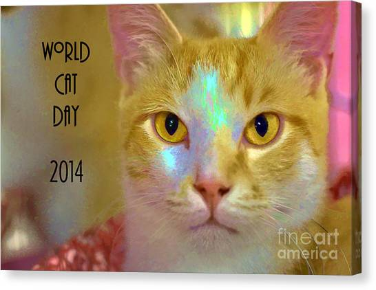 World Cat Day Canvas Print